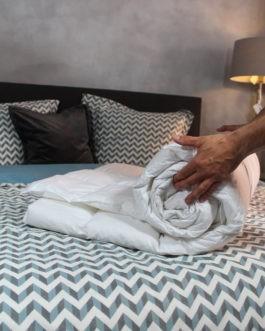 Donzen zomerdekbed – Luxe Nuvaro Summer Ganzendons 140 x 200 cm – Eenpersoons bestellen via beddenwinkel-online.nl